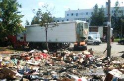 Торговцы с Овощного рынка на Троещине избили работников Киевводоканала