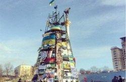 В ближайшее время каркас елки на Майдане будет демонтирован