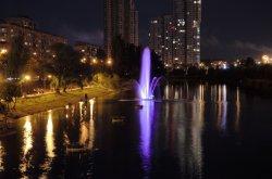 На Русановке восстановили фонтаны