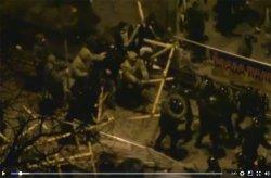 Сотрудники полиции предприняли попытку разогнать палаточный городок на Грушевского