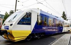 В сети показали фото поезда, который будет курсировать из Киева в аэропорт Борисполь