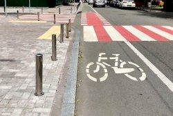 Ещё на двух улицах Киева краской нарисовали велодорожки